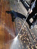Photo: powerwashing a deck1