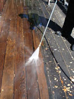 Photo: powerwashing a deck2