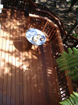 Photo of refinished wood deck