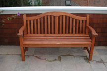 Photo: wood patio furniture after