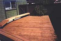 Photo: Wood deck restoring project after