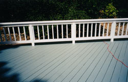 Photo: Solid stain deck