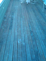 Photo: wood deck before